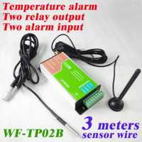 Envío libre dos salida de relé y 2 Entrada de alarma gsm monitor de temperatura y alarma SMS y registrador de datos a través correo electrónico