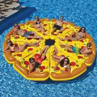 180*150 cm pizza color de fila flotante cama flotante del bebé del anillo piscina comedor cochecito portátil infantil estera del juego sofás aprenden taburete