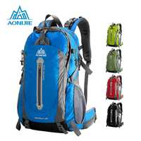 AONIJIE al aire libre deporte Camping bolsos de hombro viaje mochila bicicleta senderismo bolsas impermeables mochilas 40L 50L