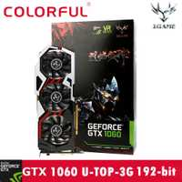 Colorido iGame GTX1060 U-3GD5 TOP 1594-1809/8008 MHz 3G 192bit juego de tarjeta gráfica de vídeo 19Feb13
