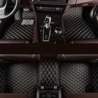Kalaisike coche personalizado alfombras de piso para BMW modelo 535X530X3X1X4X4 5X5 6 X Z4 525 520 f30 f10 e46 e90 e60 e39 e84 e83 estilo de coche