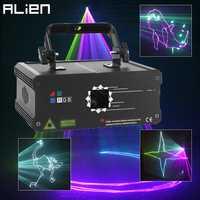 Projecteur Laser d'animation couleur ALIEN 500MW 1W rvb DMX Scanner de faisceau DJ Disco fête vacances Bar effet d'éclairage de scène de noël