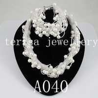 Hecho de perlas joyería 8mm Shell Mar Blanco collar de perlas pulsera 24 filas broche de imán perfecto regalo de las mujeres A40