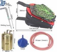 Cuero de la venta caliente fuelle aire juegos con un latón hervidor de agua una antorcha uno latón hervidor de agua 8
