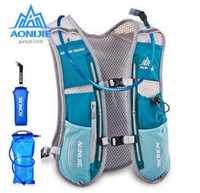AONIJIE 5L Running mochila de deportes al aire libre Racing senderismo maratón hidratación Pack 1.5L 600 ml hervidor hombres mujeres