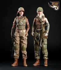 1/6 conjunto de ropa de mujer Gunners con camiseta sujetador protector solar manga gorra de béisbol pecho colgante para Phicen Jiaoul Body Fire Girl