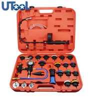 27 unids universal radiador kit probador de presión Sistema de refrigeración probador de fugas del tanque de agua