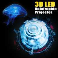 Proyector holográfico LED reproductor de holograma portátil 3D holográfica ventilador único holograma proyector