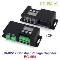 Nueva 4CH DMX512 voltaje constante DC12V-24V RGBW 3 digital de pantalla muestra dirección DMX, en DMX512/1990 out 4 canal CV PWM