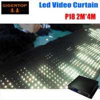 Envío gratuito 2 m x 4 m P18 matriz LED RGB DJ fiesta jardín estrella cortina de vídeo telón de fondo para jardín de la casa fiesta de cumpleaños