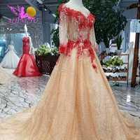 AIJINGYU vestidos de novia lentejuelas vestido económico ruso de lujo nuevos suministros blanco largo vestidos de novia tienda de vestidos de novia