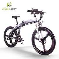 Nuevo Marco de bicicleta eléctrica híbrida de montaña ebike plegable para bicicleta eléctrica de RT-880 pulgadas en el interior de 36 V * 250 W Ah Batería ebike