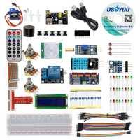 Kit de iniciación Raspberry Pi 3 Kit de aprendizaje RPi electrónico DIY para pantalla principiante pca9685 con código C/Python y tutorial de vídeo