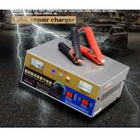 Cargador de batería de coche eléctrico completamente automático inteligente tipo de reparación de cargador de batería de muñeca 12 V/24 V 20A s 30 s enchufe de la UE