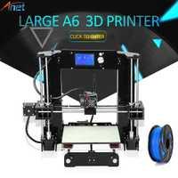 Anet A6 A8 3D Kit de impresora de gran tamaño 220*220*250mm/220*220*240mm de gran tamaño de impresión de semillero con filamentos + 8G/16G tarjeta SD + herramientas