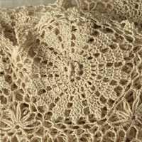 Ganchillo hecho a mano cubierta de cama colchas y colchas 190 cm x 280 cm
