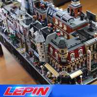 DHL Lepin STADT Street view l'architecture Créateurs 15002 15003 15004 15005 15007 15008 15035 legoed