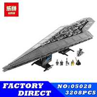 LEPIN 05028 05027 Star Series Wars Star Destroyer Set blocs de construction briques jouet modèle enfants cadeau Compatible 10221 10030
