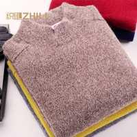100% hombres suéter de cachemira invierno ocasional 2016 de los hombres knit caliente hombres suéter medio cuello alto mens ropa Suéteres y pullo