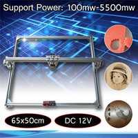 65x50 cm 100 mw-5500 mw bricolage bureau Mini découpe Laser/gravure graveur Machine DC 12 V coupe-bois/imprimante/puissance réglable