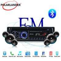 BT Bluetooth Car Radio estéreo 1 DIN panel desmontable música Audio CD DVD MP3 FM AUX en USB SD con Control remoto