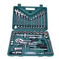 Kit de herramientas de reparación de la máquina del coche de la llave del enchufe 61 unids/set con trinquete de alta resistencia