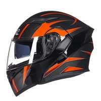 GXT casco de motocicleta doble visores de cara completa moto Cascos de carreras moto fill Up Cool hombres montando casco de motocicleta casco