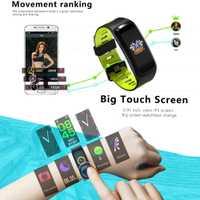 F4 pulsera inteligente ritmo cardíaco presión arterial oxígeno pulsera hombres IP68 impermeable GPS Smart reloj electrónico de los hombres