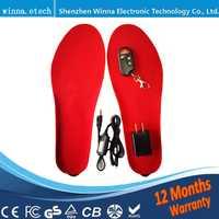 Mejor regalo nueva llegada caliente eléctrico plantillas suelas para mujeres hombres zapatos de bota de invierno gruesa plantilla con piel EUR tamaño 35-46 #