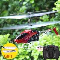 SYMA W25 2CH RC avión Control remoto helicóptero eléctrico interior Mini Shatterproof niños juguetes voladores modelo rojo
