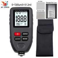 Medidor de espesor de TC-100 pintura de pintura Digital medidor de espesor 0-1300um medidor de medición de ancho