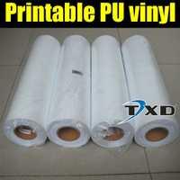 Vinilo de transferencia de calor imprimible de alta calidad de 50 CM X 25 M/rollo, película de transferencia de PU imprimible digital con envío gratis