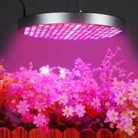[DBF] 50 W lleno espectro LED Panel luz AC85 ~ 265 V UV IR lámparas Panel planta crece la luz 250 leds de efecto invernadero plantas de interior
