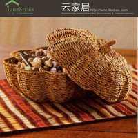 País cubierto cesta de frutas paja vid Sala creativa fruta seca placa hogar restaurante simple melón naturaleza caña de paja