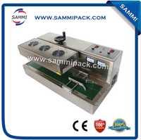 De acero inoxidable de escritorio continuo sellador de inducción electromagnética de inducción máquina de sellado de la tapa