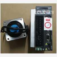 Nueva llegada 220 V 750 W 2.39nm 3000 RPM 80mm AC servo Motores kits ecma-c20807ss + asd-b2-0721-b aceite sello freno con 3 m cable