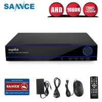 SANNCE 16CH 1080N CCTV DVR 16 canales 1080 p salida HDMI H.264 Video P2P acceso remoto detección de movimiento Email alerta