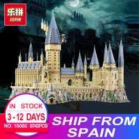 2018 nuevo educativos 16060 Harry magia Potter Hogwarts Castillo La escuela Compatible con Legoing 71043 educativos bloques de construcción de ladrillos