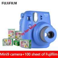 Original Fujifilm Instax Mini 9 cámara fotográfica instantánea + 70 hojas Fuji Instax Mini 8 película blanca + lente de primer plano envío gratis