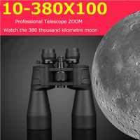 Binoculares militares HD 10-380X100 BINOCULAR profesional resistente al agua 10-60 veces telescopio Zoom caza calidad visión