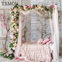 Hermosa de seda de la boda flores fila accesorios simulación falso flor arco flor boda arreglo T Taiwán camino Decoración