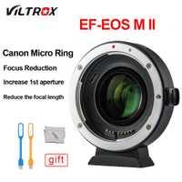 Adaptador de lente Turbo Viltrox EF-M2 II 0.71X reducir la velocidad de AF Auto-enfoque EXIF para Canon EF lente m6 M5 M3 M2 M10 Cámara
