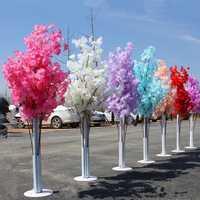 150 cm alto lujo cereza Artificial árbol corredor pasillo columna conduce para boda T estación Centerpieces suministros
