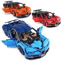 20086 Bugatti Chiron juegos de coches de carreras kits compatibles con 42083 bloques de construcción Serie Técnica modelos de juguetes de ladrillo para