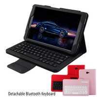 Tablets PC inalámbrica Bluetooth teclado klavye soporte plegable funda protectora de cuero para Samsung Galaxy Tab a 10.1 t580 t581