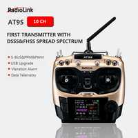 Radiolink AT9S R9DS Radio Control remoto del sistema DSSS FHSS 2,4g 10CH transmisor receptor de RC helicóptero/RC barco RC jet