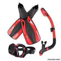 Marca profesional buceo máscara Set adulto Flexible confort natación aletas snorkel seco tubo de respiración sumergible largas aletas de buceo