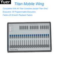 Nuevo Titan móvil ala controlador de iluminación de escenario DMX consola 30 programable ejecutores de discoteca DJ etapa luces de efecto controlador