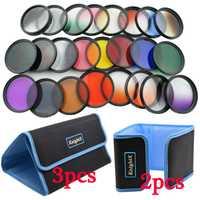 KnightX 24 piezas lente de Color graduado filtro ND para Canon nikon d3200 d3300 d5500 d5300 1200D 750D Cámara 52mm 58 MM 52 58mm