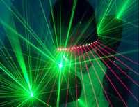 Explosivos de baile vestido verde chaleco de noche espectáculo de láser láser láser gafas láser LED